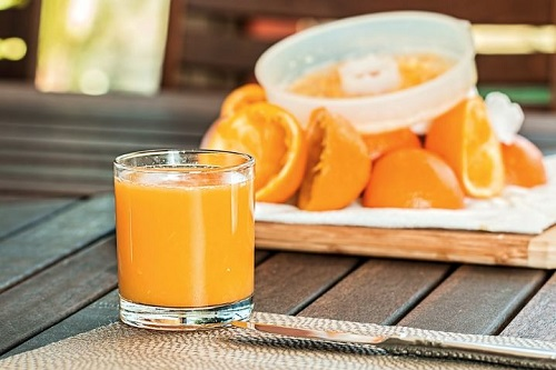 detox liquid orange juice